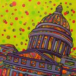 Periwinkle Capitol - Original Art by Sherry Williamson